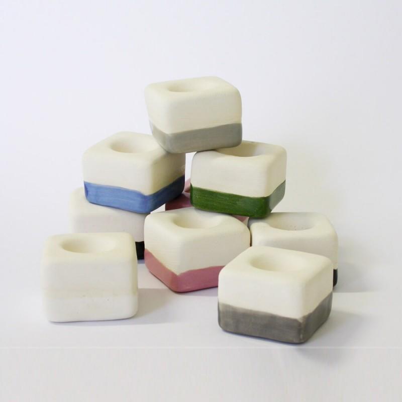 Aromatizador Cerâmica - Cubo Vermelho